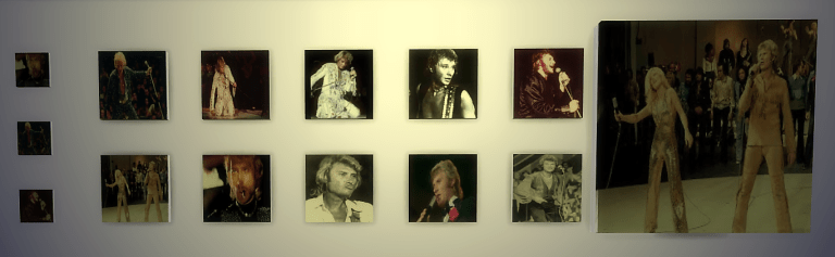 maiagame sims4 créations cc posters johnny hallyday 70