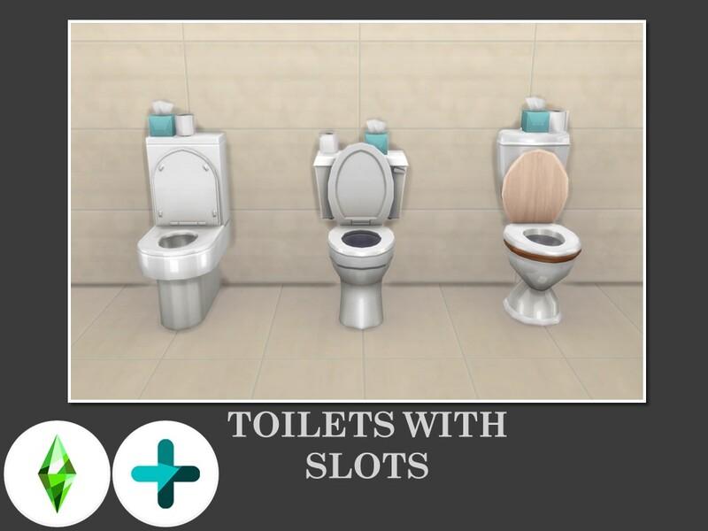 Placez plus d'objets sur les toilettes !