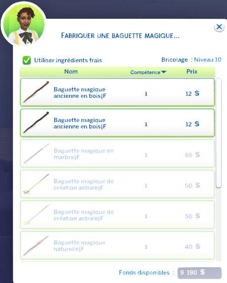 Fabriquant de baguettes magiques 6