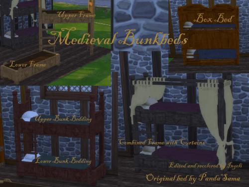 Lits superposés médiévaux !