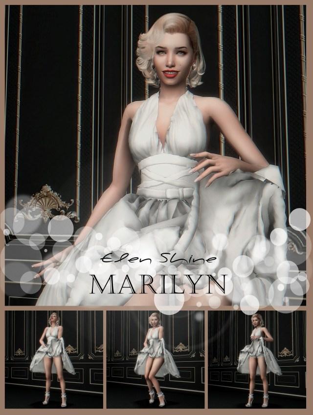 Marilyn Monroe : pose et robe