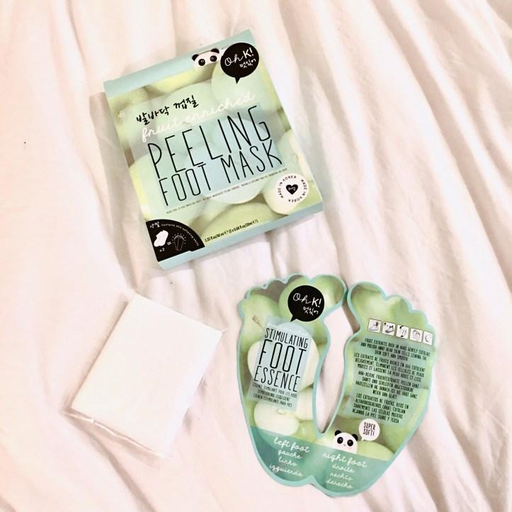 OhK! Peeling Foot Mask | Below Freezing Beauty