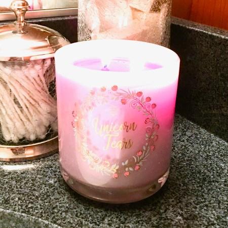 Fragrant Jewels Unicorn Tears Candle Bath Bomb | Below Freezing Beauty