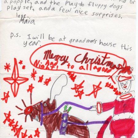 1986 Letter to Santa Claus | Maia Nolan-Partnow