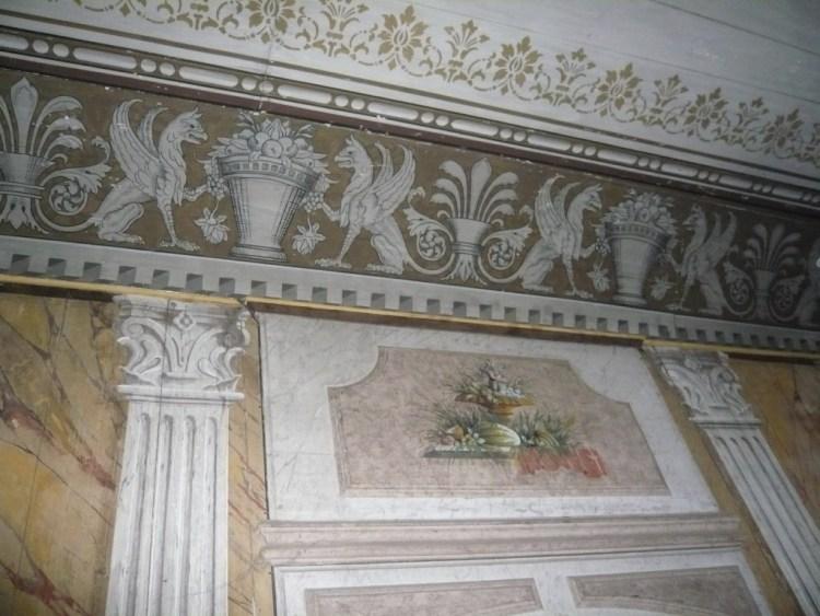 Medevi brunn, peinture murale de la salle des fêtes