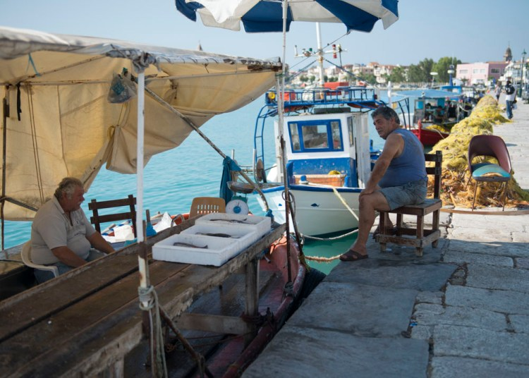 Pêcheurs à Zachintos