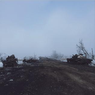 Road from Artemivsk to Debaltseve near Lohvinovo, Feb 15. Photo: Max Avdeev