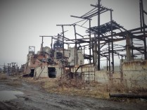 Remains of the Butovska mine, northern outskirts of Donetsk. Photo source