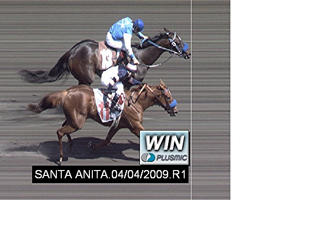 Jockey Victor Espinoza on #13 Lanie's Way eeks out victory over #11 Fine Time to Leave