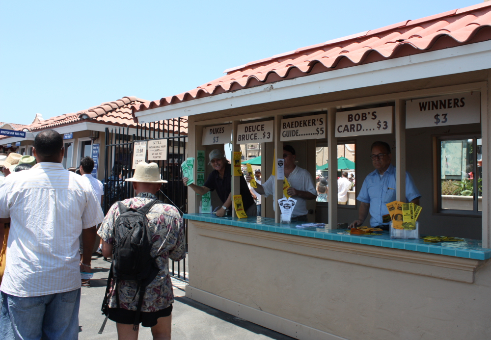 """Had the Double!"" Del Mar touts weren't having much luck peddling their wares on Opening Day."