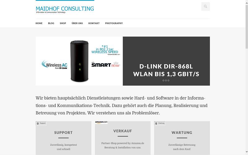 Neues Webseiten-Design online
