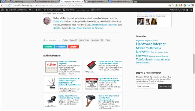 Alt gegen Neu! Vorzugspreise mit Fujitsu Refresh-IT › MAIDHOF CONSULTING - Chromium_002