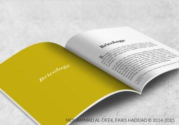 Our booklet's interior design.