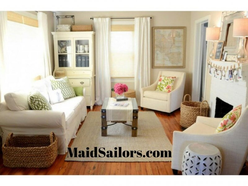 Tips for Efficiently Organizing Small Living Rooms | Maid ... on Small Apartment Organization  id=54432