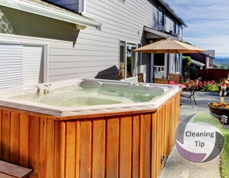 How to Clean a Hot Tub. Great maintenance tips for hot tubs from Maids by Trade