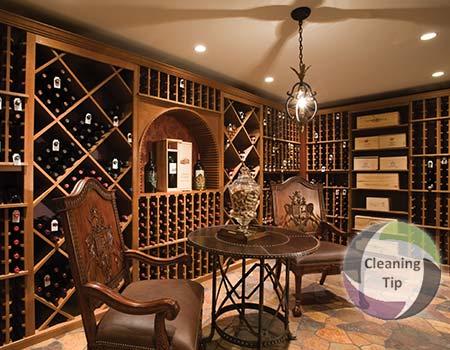 clean wine cellar