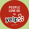 People loves us on yelp logo