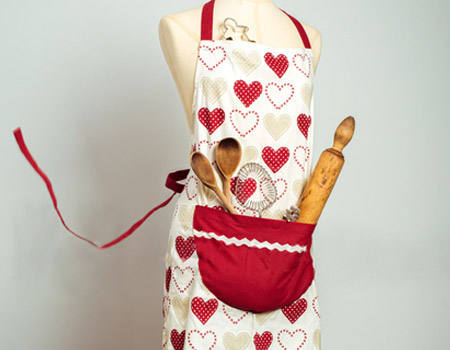 Dinner Time—How to Clean an Apron