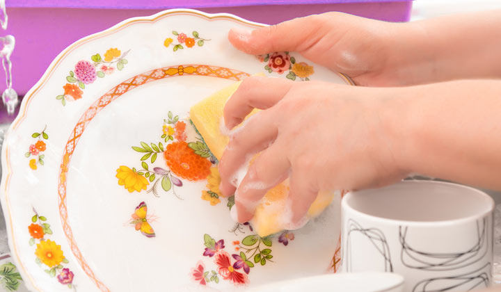 How to Clean Grandma's Fine China with milk