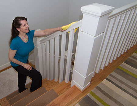 How to Clean Staircase Railings