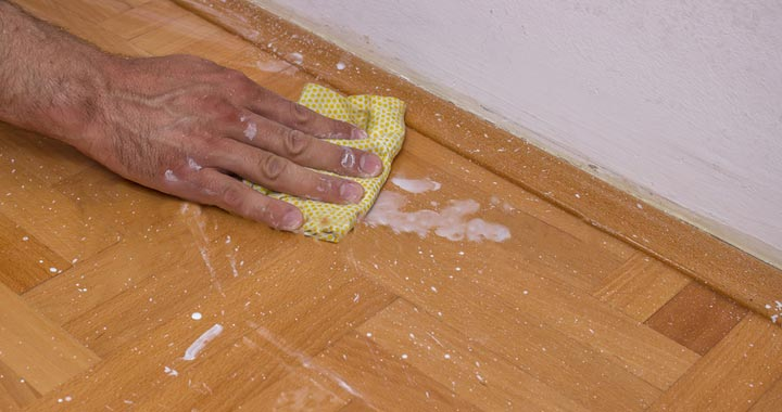 How to Clean Up Paint on floor