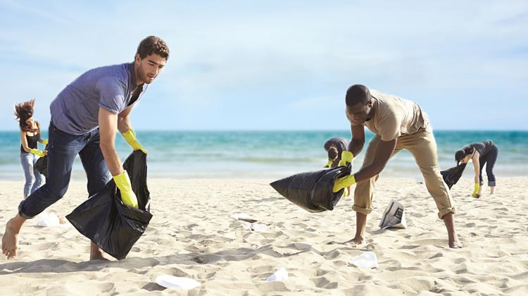Coastal Cleanup Day at the beach