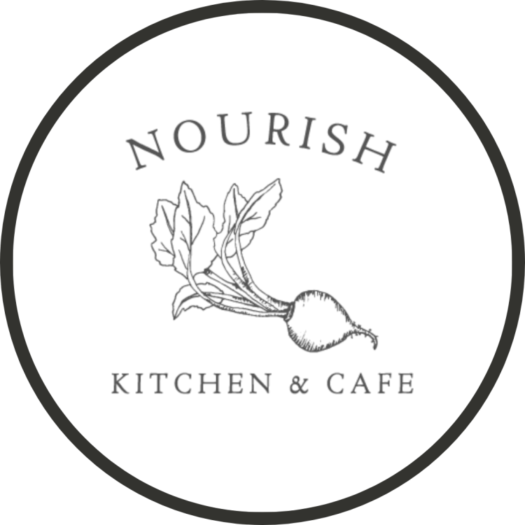 Logo for nourish restaurant