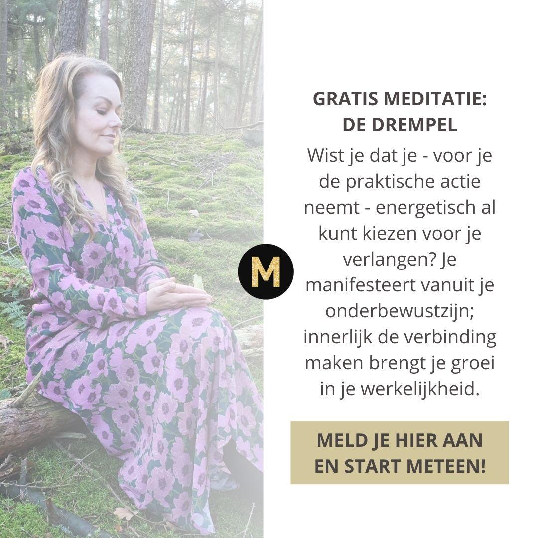 meditatie de drempel energetisch kiezen