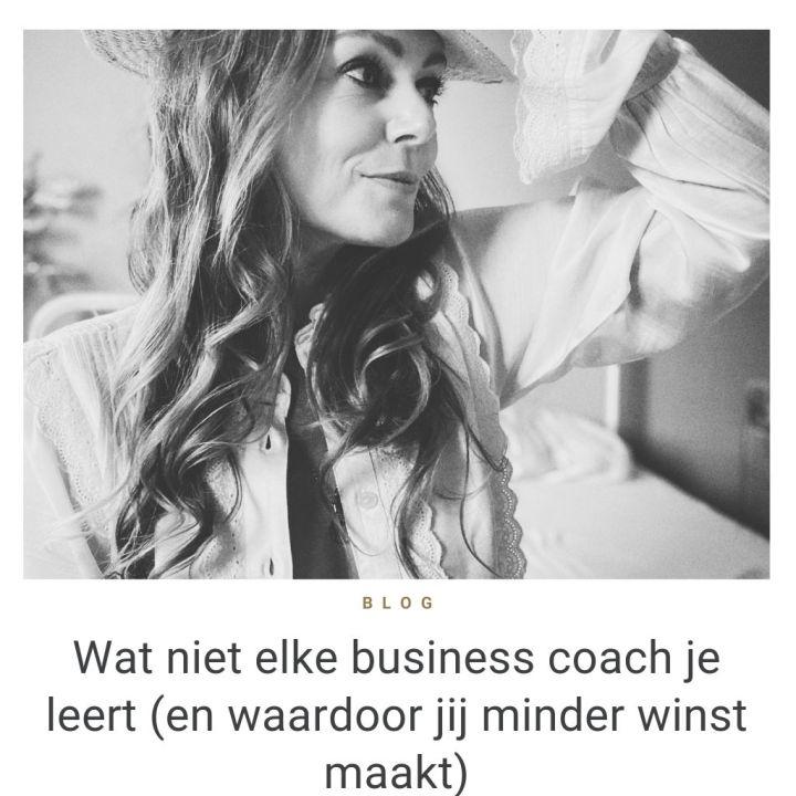 Wat niet elke business coach je leert blog