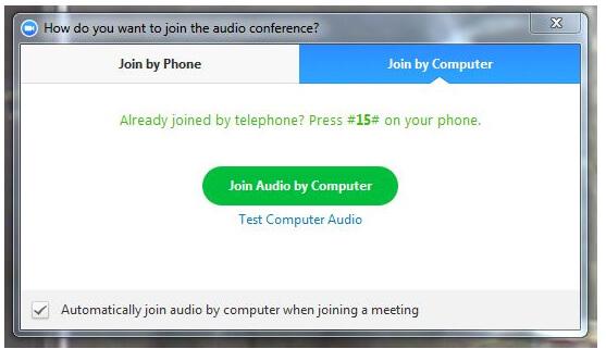 Hoabilitar audio e video no zoom