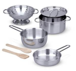 pots & pans from Melissa & Doug