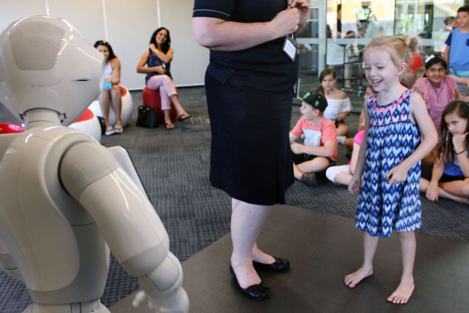 Pepper has been entertaining children at the Dudley Denny City Library in Mackay