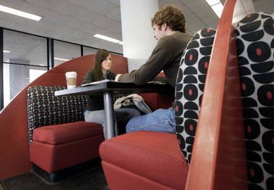 Beyond the books: Cafes and comfy furniture help keep UW libraries viable
