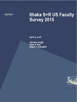 Ithaka S+R US Faculty Survey 2015