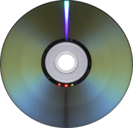 Underside of a DVD-R disc, modified to have tr...