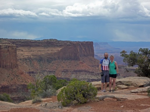 This was just off the mountain bike trails in Dead Horse Point State Park. Awesome views, solid beginner to intermediate trail.