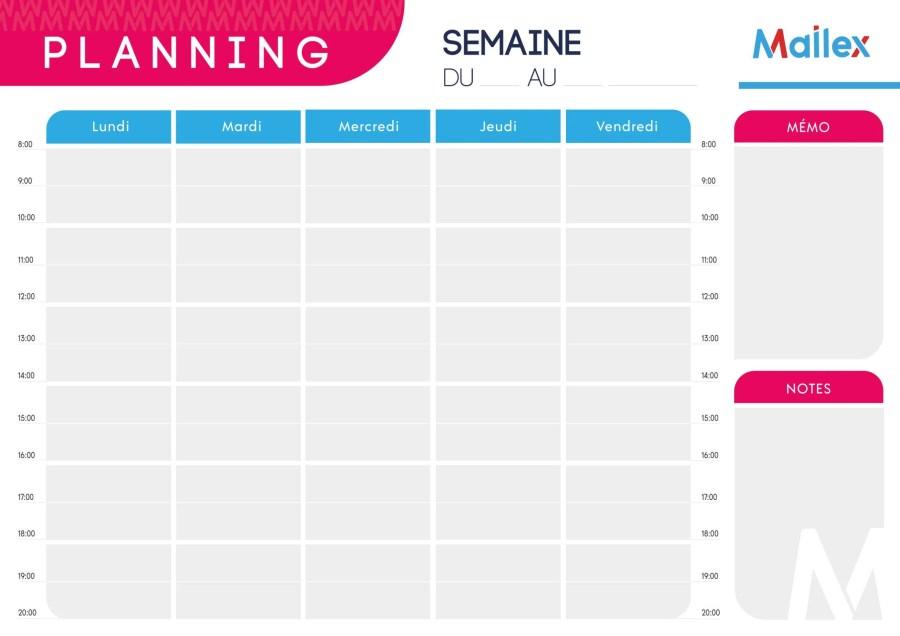 Planning journalier 25 3