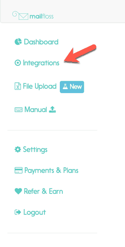 Step 1 - click Integrations