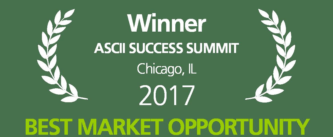 ASCII 2017 Best Market Opportunity