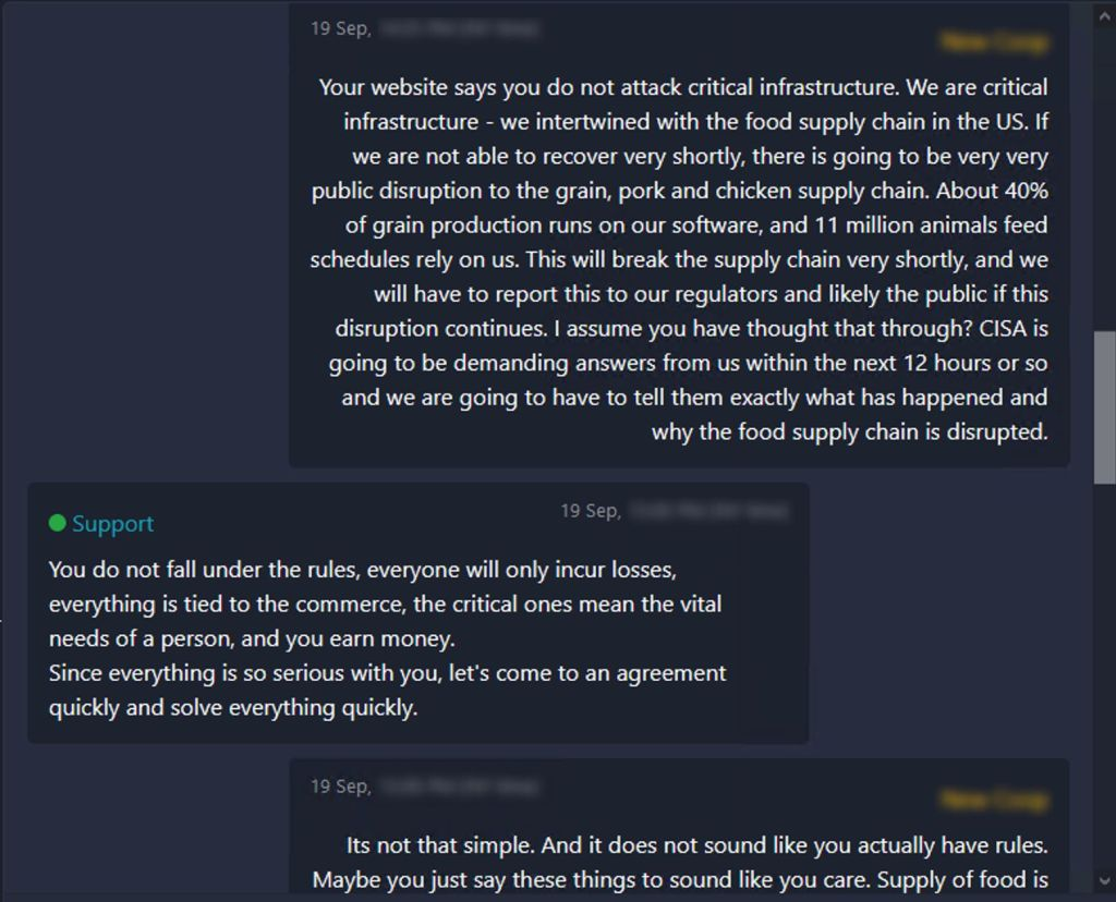 new cooperative ransomware conversation