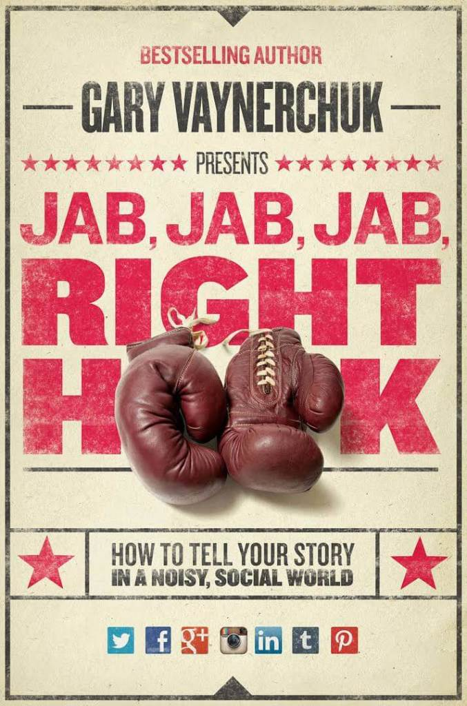 A good way to prevent or disarm the boomerang effect is by using Gary Vaynerchuk's 'Jab, Jab, Jab, Right-Hook' methodology.