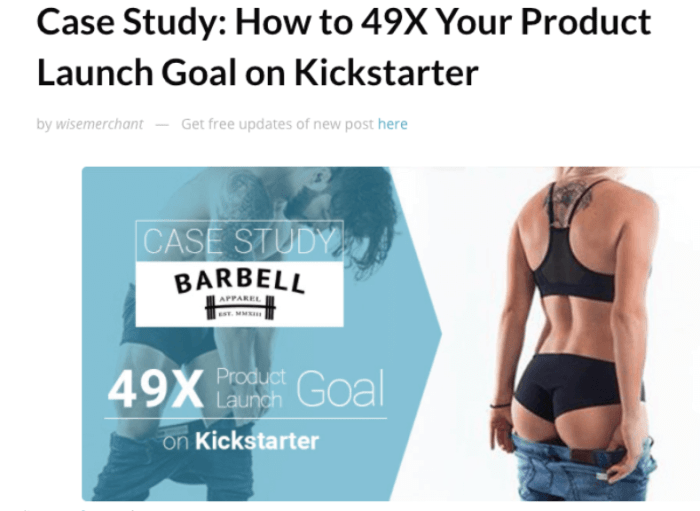 Barbell Apparel sold over 9,000 jeans through personal outreach to media sites.
