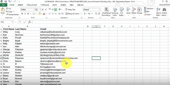 Go To Webinar Excel report