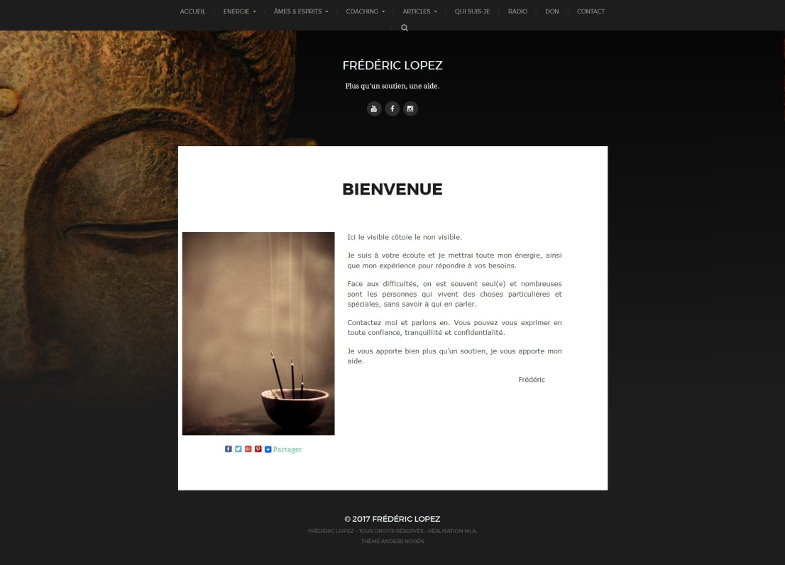 Site internet Frédéric Lopez