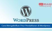Cara Mengaktifkan Fitur Pendaftaran di Wordpress