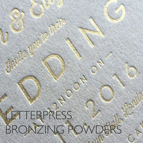 Letterpress Bronzing Powders