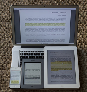 electronic books on various devices