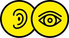 Icon Symbols for deafblindness