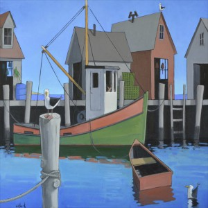 Witbeck_Harbor Gulls_Oil on Canvas_40x40