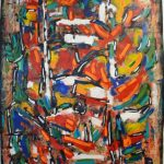 """David Driskell, Accent of Autumn, Acrylic and Mixed Media on handmade paper, 42.25"""" x 30"""""""